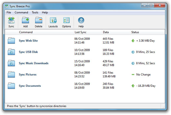 Sync Breeze Ultimate 9.8.16 software screenshot