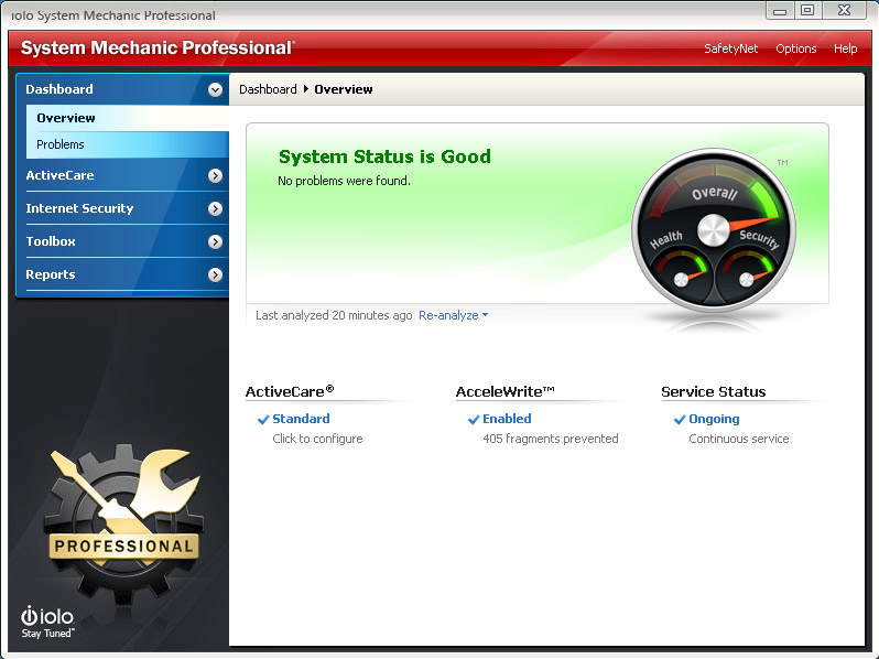 System Mechanic Professional 15.5.0.61 software screenshot