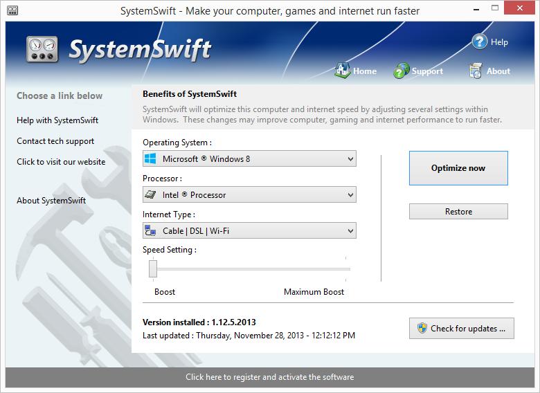 SystemSwift 2.5.29.2017 software screenshot