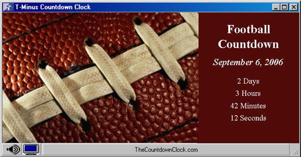 T-Minus Football Countdown 6.0 software screenshot