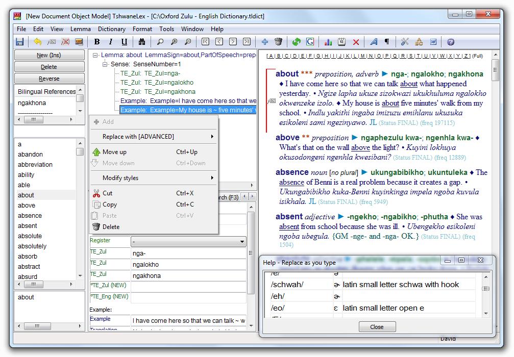 TLex Suite 9.1.0.1755 software screenshot