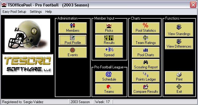 TSOfficePool - Pro Football 6.1.10 software screenshot