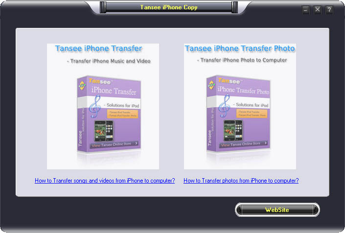 Tansee iPhone Copy Suite V5.0 5.0 software screenshot