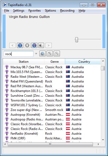TapinRadio Portable 2.06.2 software screenshot