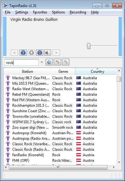 TapinRadio 2.06.2 software screenshot