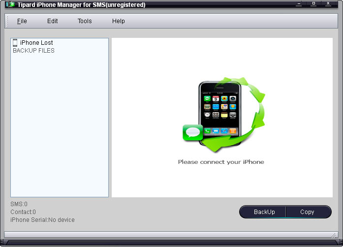 Tipard iPhone Manager for SMS 3.1.26 software screenshot