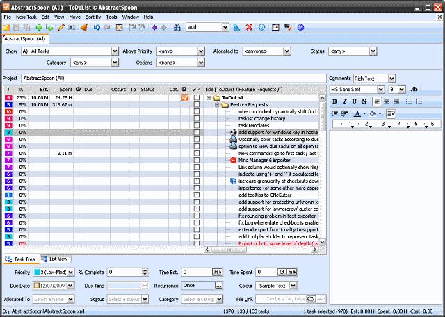 ToDoList 7.1.3.3 software screenshot
