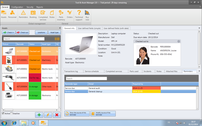 Tool & Asset Manager 2.0.6032.30673 software screenshot