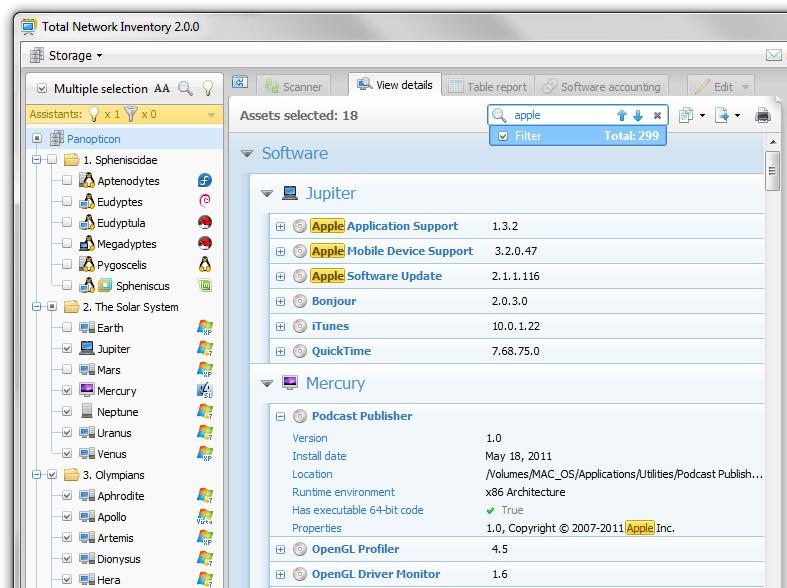 Total Network Inventory 3.4.3.2385 software screenshot