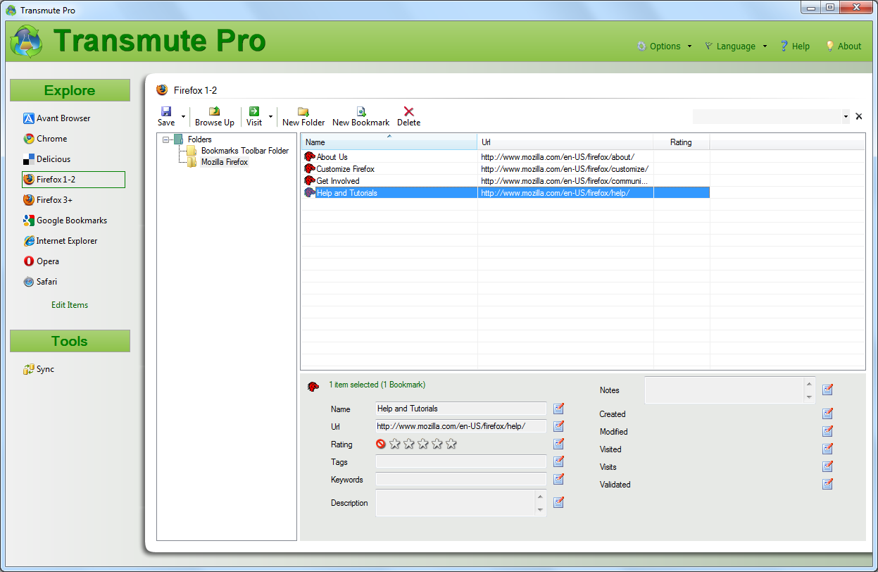 Transmute Pro 2.70 software screenshot