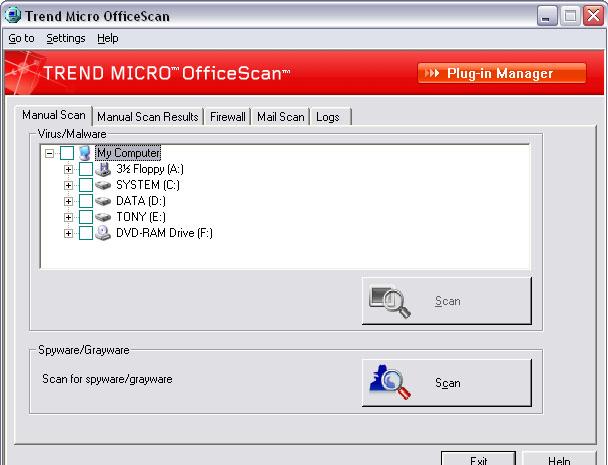 Trend Micro OfficeScan 7.4 software screenshot