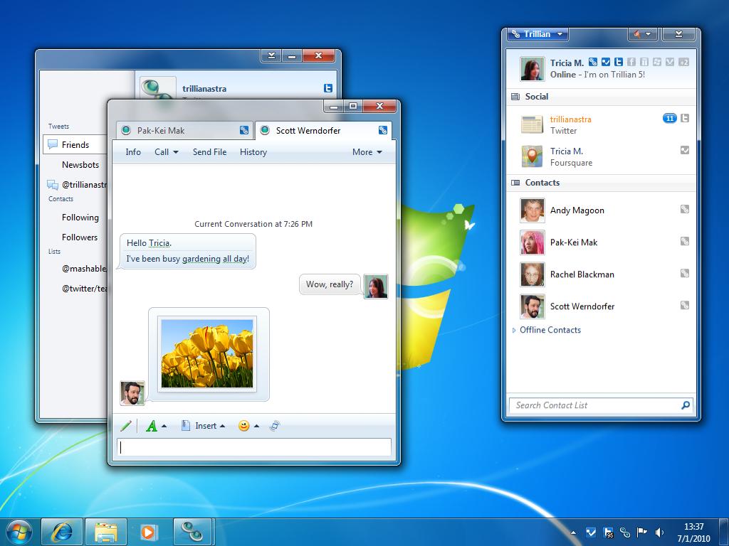 Trillian 6.0.60 software screenshot