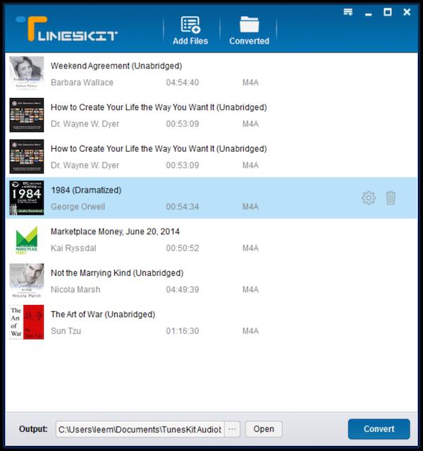 TunesKit Audiobook Converter 2.6.0 software screenshot