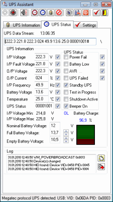 UPS Assistant 2.4.2.114 software screenshot