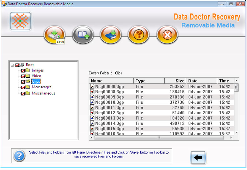 USB Removable Drive Recovery 3.0.1.5 software screenshot