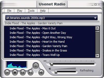 Usenet Radio 1.00 software screenshot