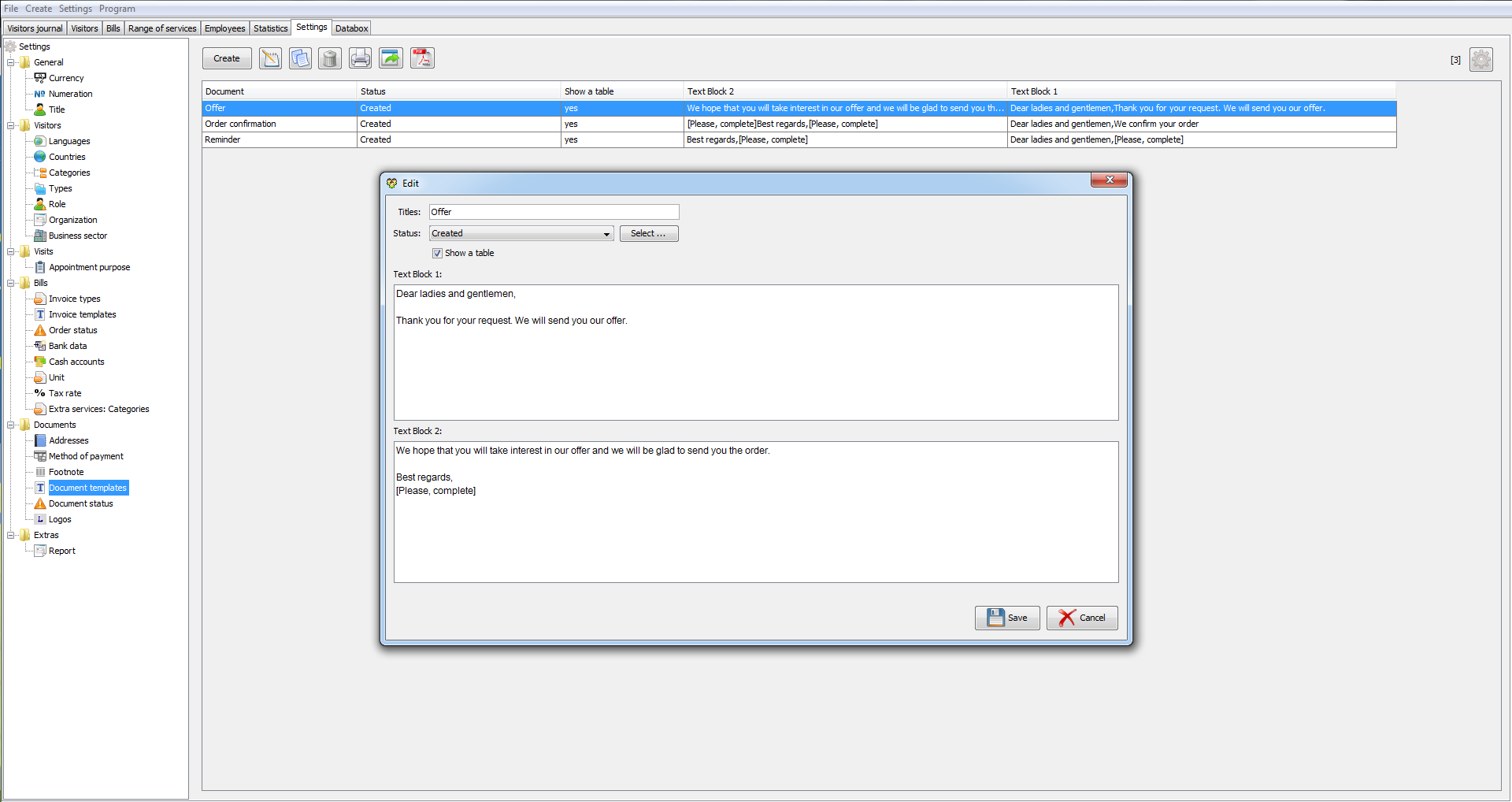 Visitor management 2.01.08 software screenshot
