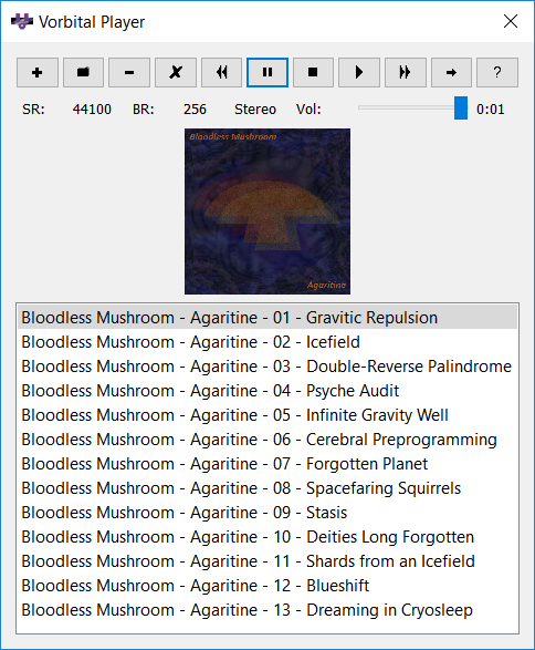 Vorbital Player 4.31 software screenshot