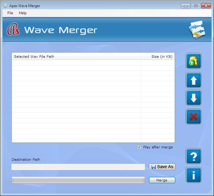 WAV Merger Software 2.3.8.2 software screenshot