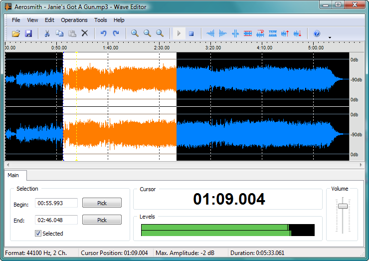 Wave Editor 3.3.6.1 software screenshot