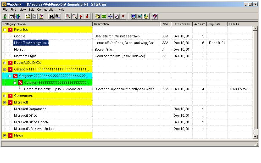 WebBank 2.0 software screenshot