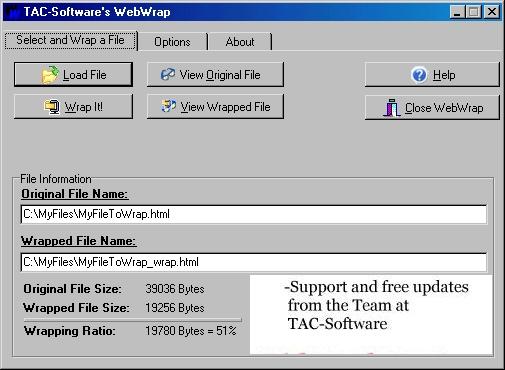 WebWrap 1.1.0 software screenshot