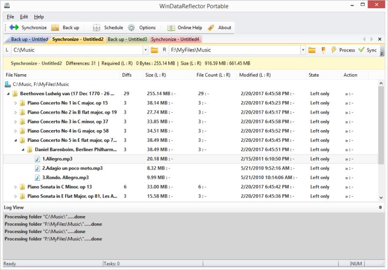 WinDataReflector 1.6.1 software screenshot