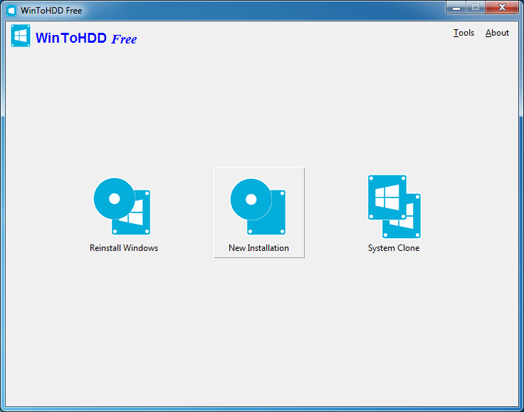 WinToHDD 2.5 (Build: May 9 2017) software screenshot
