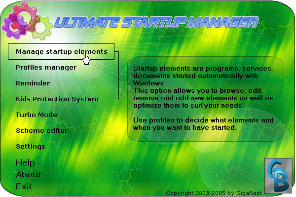 Windows Startup Manager 3.0 software screenshot
