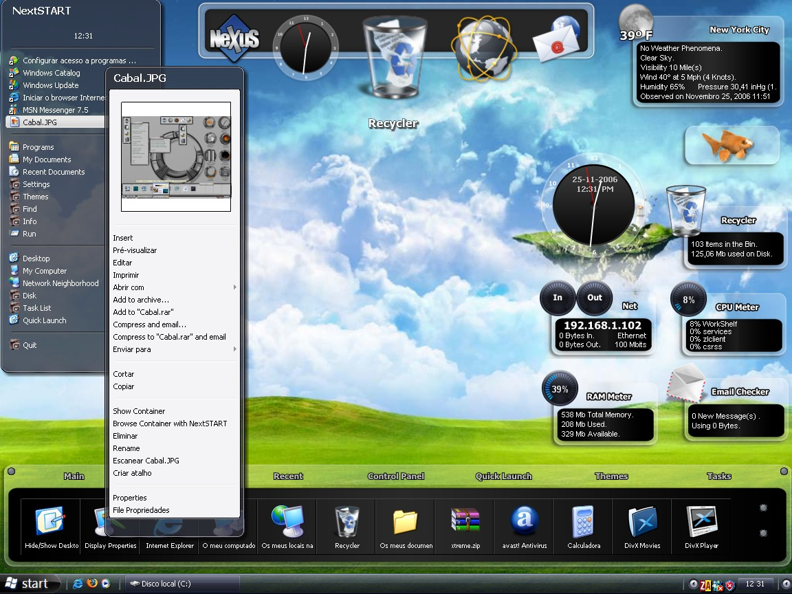 Winstep Xtreme 17.01.0100 software screenshot