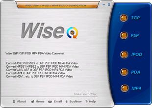 Wise 3GP Video Converter 4.0.9 software screenshot