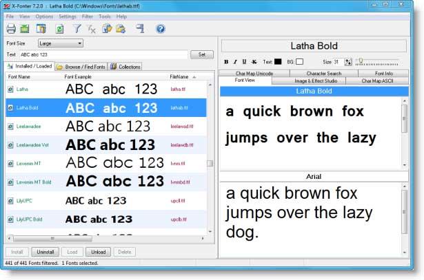X-Fonter 7.5.4 software screenshot