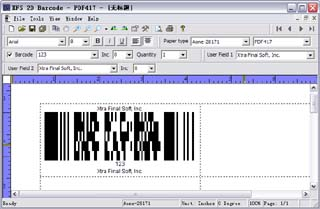 XFS 2D Barcode 1.0 software screenshot