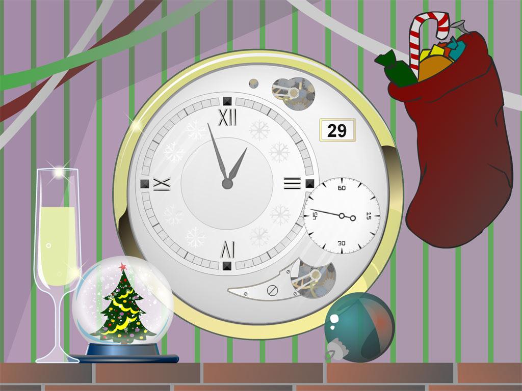 Xmas Clock screensaver 2.8 software screenshot