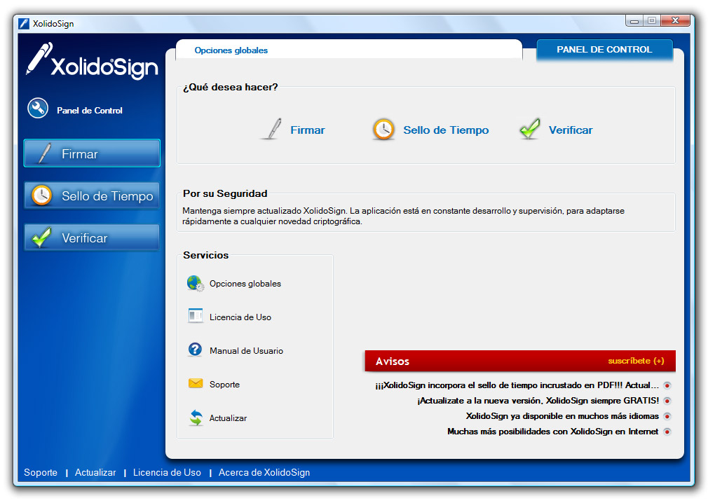 XolidoSign 2.2.1.26 software screenshot