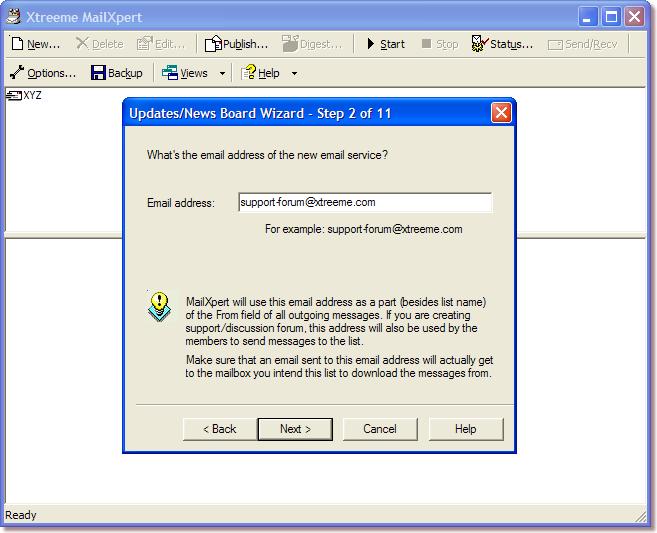 Xtreeme MailXpert Professional Edition 3.0 software screenshot