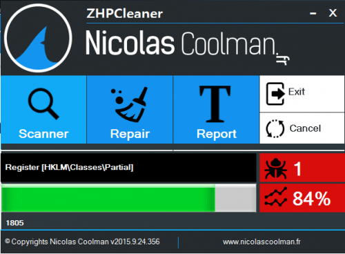 ZHPCleaner 2017.6.27.106 software screenshot