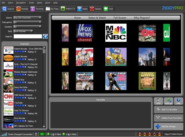Ziggy TV - Watch Free TV Online 3.5.5 software screenshot