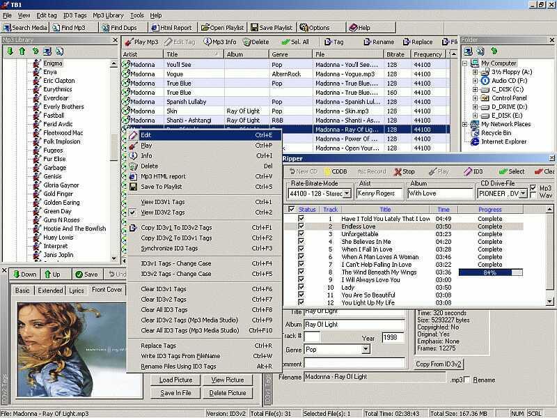 Zortam ID3 Tag Editor 5.50 software screenshot