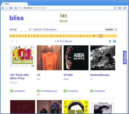 bliss 20170620 software screenshot