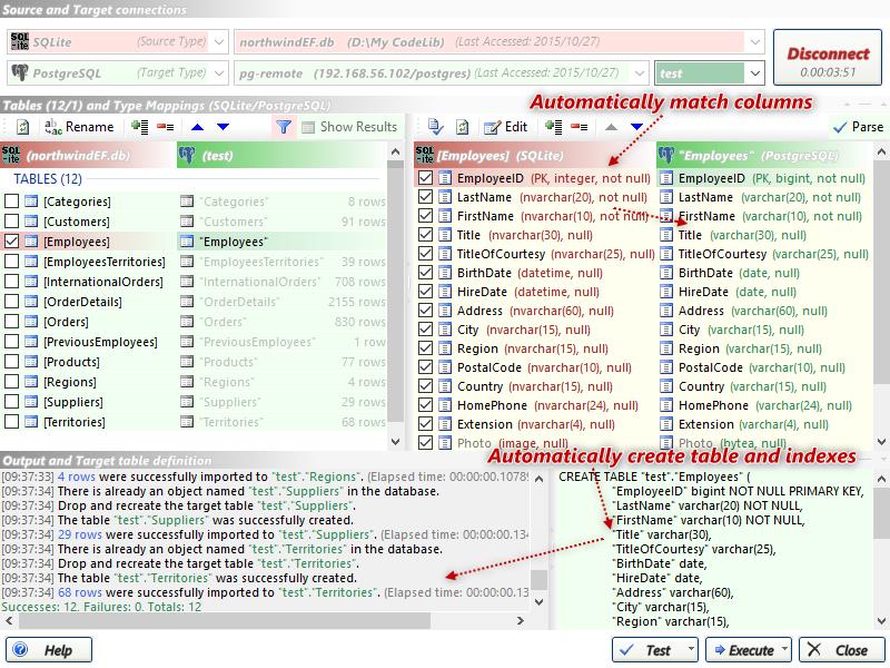 dbMigration .NET 5.4.6334.2 software screenshot