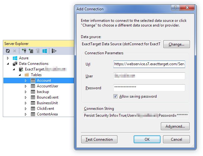 dotConnect for ExactTarget 1.6.428 software screenshot