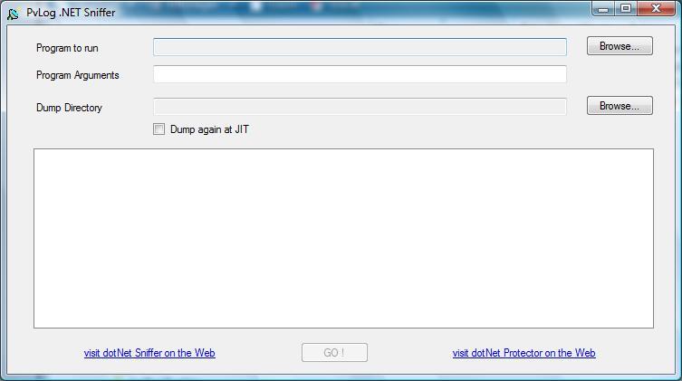 dotNet Sniffer Win32 2.0 software screenshot