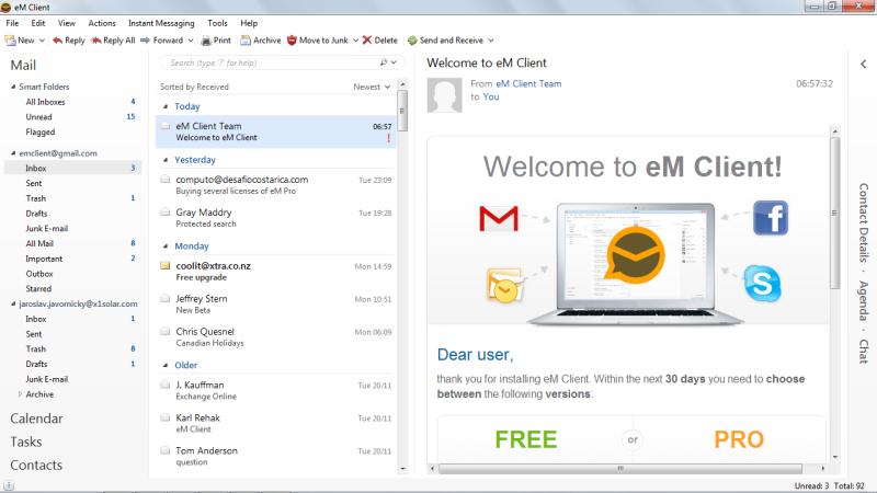 eM Client 7.1.30469.0 software screenshot