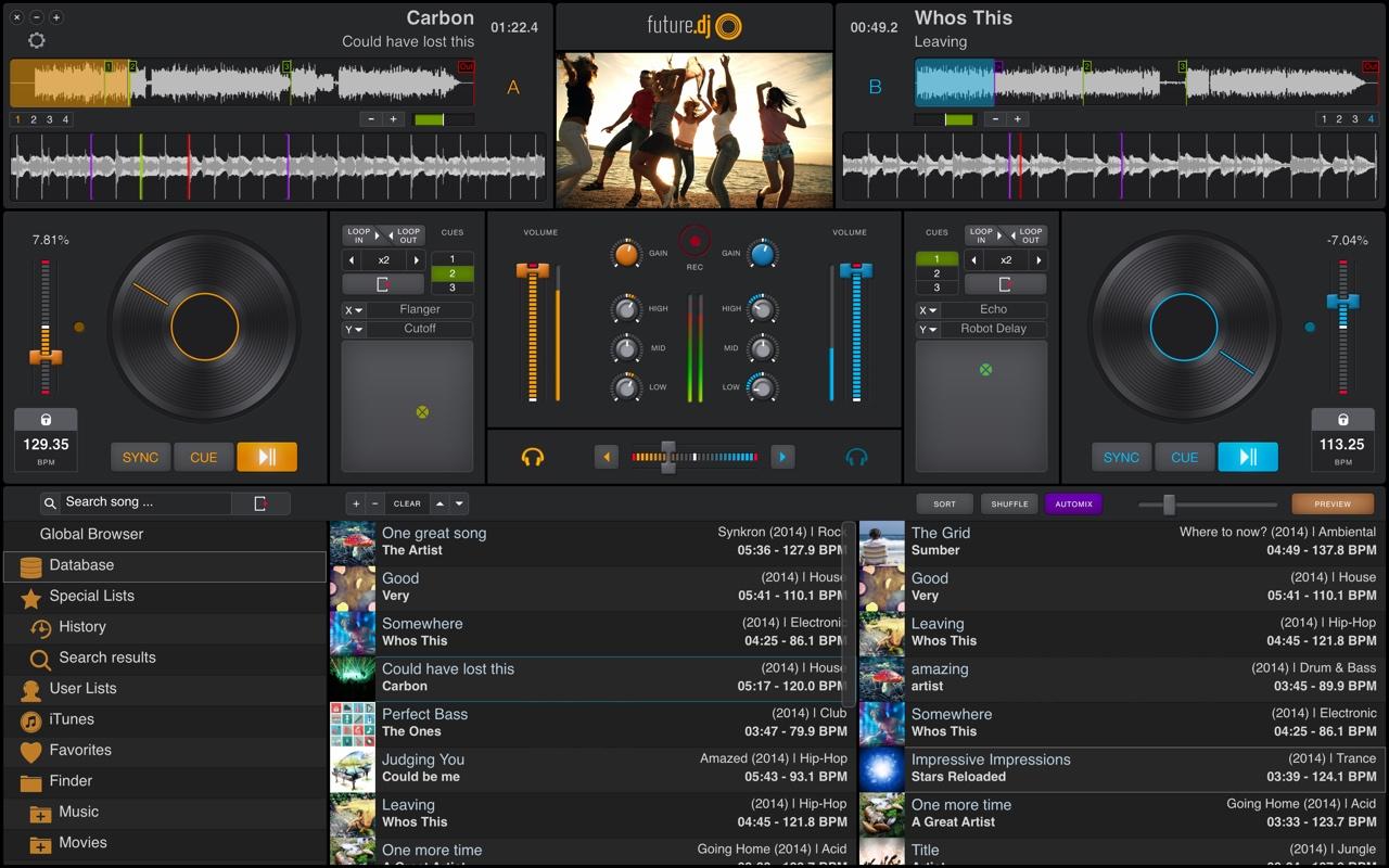 future.dj 1.2.6 software screenshot