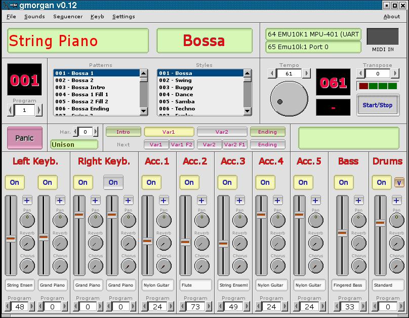 gmorgan 0.24 software screenshot