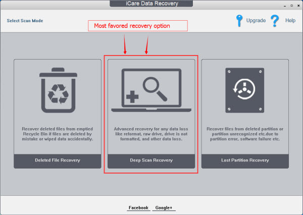iCare Data Recovery 7.6 software screenshot