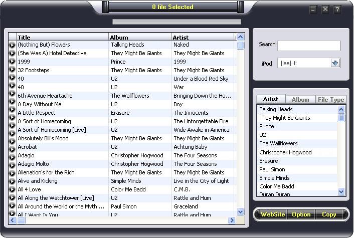 ipod to pc transfer Build 88 3.0 software screenshot