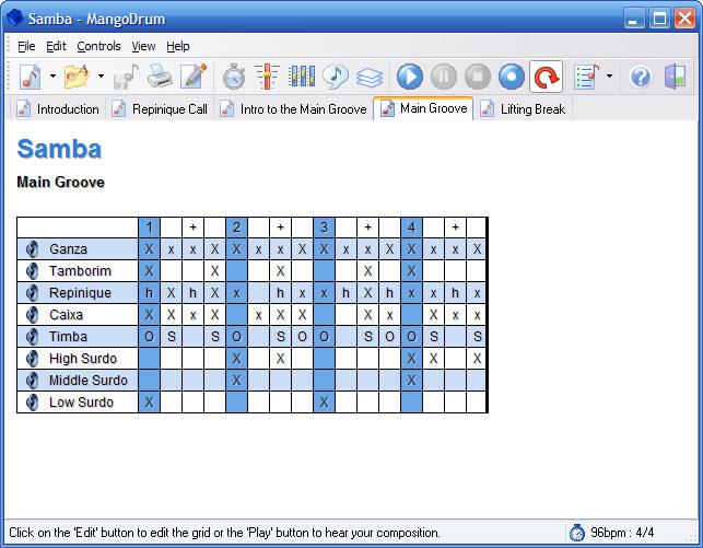 mangodrum 2.3.1.00 software screenshot