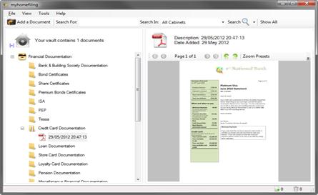 myhomefiling 4.1.7 software screenshot